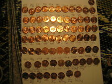 CANADA COMPLETE SET 1956 TO 2012 GEM RED MINT PENNIES WITH MANY RARE VARIETIES