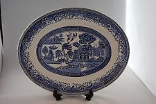 """Washington pottery """"Old Willow"""" oval serving plate"""