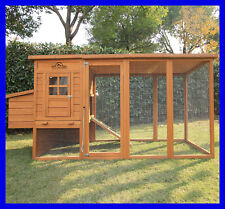 "Pets Imperial® Large 8ft 2"" Chicken Coop Hen Poultry Ark House Hutch Run Nest"