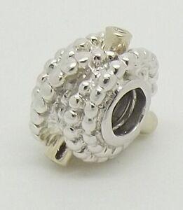 PANDORA DIAMOND,STERLING SILVER 14CT YELLOW GOLD ENTANGLED BEAUTY CHARM #790277D