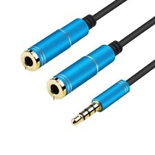 3.5mm Stereo Audio Splitter Jack Earphone Headphone 2 Way Adapter Y-Cable Lead