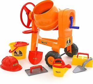 Childrens Construction Toys Cement Mixer + Bucket Play set of 8 Bob the Builder