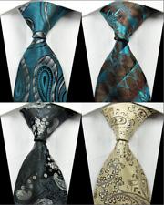 Lot of 4 Classic Paisleys Dot JACQUARD WOVEN 100% Silk Men's Tie Necktie