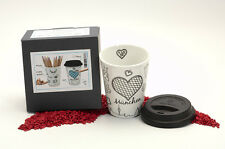Könitz Porzellan Coffee to Go Mug Selfmade City Mug - München 380ml - zum Bemale