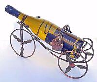 Metal Estante Botella Vino, Bicicleta Forma sujeta-botellas, Sobre Encimera
