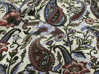Ivory & Lilac Floral & Paisley 100% Viscose Summer Printed Dress Fabric.