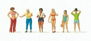 Preiser HO Scale Model Figure/People Set Women at the Camp Site 6-Pack