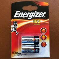 2 x Energizer CR123 CR123A 123 3v Lithium Photo Battery Longest Expiry Date