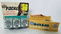 GE & Focal Vintage Flash Cubes Lot 6 Total Cubes 72 Total Flashes New