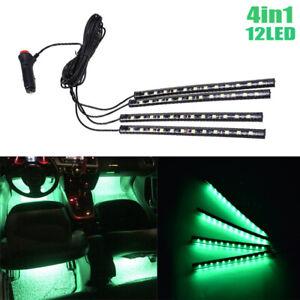 12 LED Green Car Interior Accessories Floor Decorative Atmosphere Lamp Light 4x