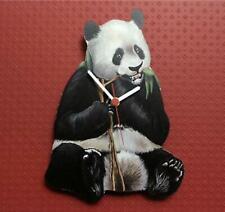 Selvaggio Zoo Collezione Orologio da Parete Gigante Panda Fatto a Mano di Legno