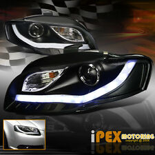 "* Facelifted * 2006-2008 Audi A4 ""B7 [Glow LED Strip] Projector Headlights Black"