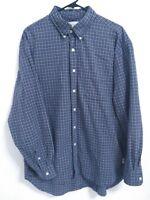 J.Crew Mens Size Large Blue Plaid Cotton Long Sleeve Button Up Shirt