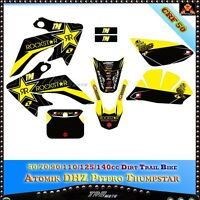 YELLOW Sticker Decal Graphic Emblems For Atomik Thumpstar Pitpro BIKE CRF50/XR50