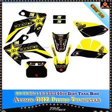 3M Rock. Decals Graphics For Honda CRF50 Copy Pit Trail Dirt Bike Emblems Atomik