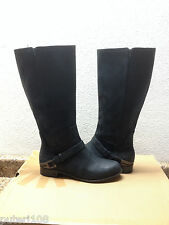 UGG CHANNING II BLACK LEATHER RIDER WATERPROOF BOOTS US 7 / EU 38 / UK 5.5