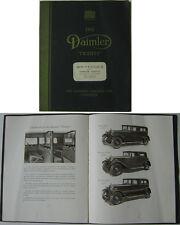 Daimler Twenty 20 Saloon Coupe Landaulette 1930-31 Original Sales Brochure