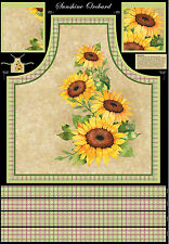 "Sunflower Apron Cotton Fabric Wilmington Sunshine Orchard 29""X44"" Project Panel"