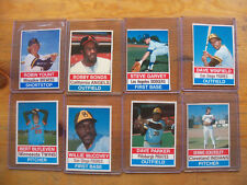 1976 HOSTESS BASEBALL LOT OF 8 DIFFRENT CARDS NM CONDITION
