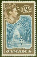 Jamaica 1938 2s Blue & Chocolate SG131 V.F MNH