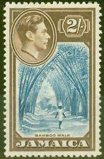 More details for jamaica 1938 2s blue & chocolate sg131 v.f mnh