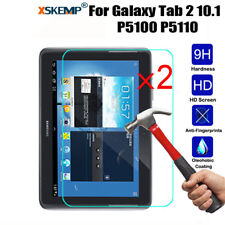 2Pcs For Samsung Galaxy Tab 2 10.1 P5100 P5110 Tempered Glass Screen Protector