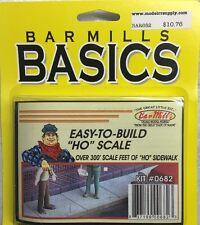 BAR MILLS 682 HO Sidewalk Material 300 scale ft Laser Cut Wood MODELRRSUPPLY-com