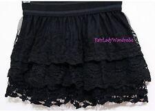 Japan Crochet Mesh Layer Mixed Lace Bloomer Slip Shorts! Black