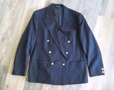 Vintage Burberrys Prorsum XL Navy Suit Coat Blazer Jacket Wool Gold Buttons