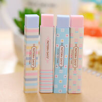 2 Pcs Korean Style Cute Rubber Pencil Eraser Stationery Children Kids Toy Gifts#