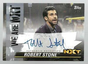 2021 Topps WWE NXT We Are NXT Autographs Platinum #ARE Robert Stone Auto 1/1
