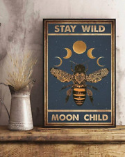 Bee Stay Wild Moon Child Art Print Home Wall Decor Poster No Frame