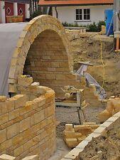 Natursteinmauer Trockenmauer Mauersteine Steinmauer Garten Travertin Gold Gelb