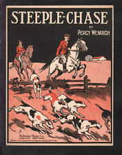 STEEPLECHASE Percy Wenrich 1916 DOGS Piano Fox Trot Solo Vintage Sheet Music