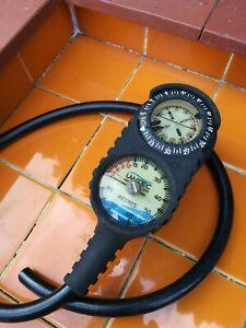UWATEC SCUBA Triple Console HP Hose Pressure/Depth Gauges Compass diving gear