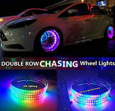 "jhb-lighting 15.5""Double Row Color Chasing IP68 LED Wheel Rings Lights 4PCS SET"