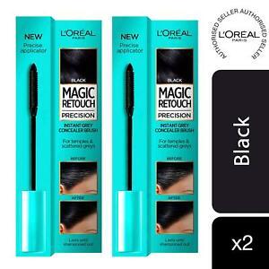 2 Pack L'Oreal Magic Retouch Black Precision Instant Grey Concealer Brush