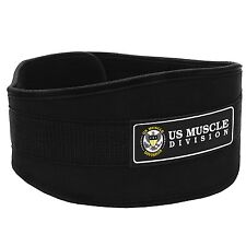 "Gym Weight Lifting 6"" Wide Neoprene Double Belt for Men Back Lumber Support"