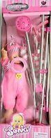 Dolls Toy Stroller Pram Pink Baby Doll Pushchair For Kids Pretend Play Toys xmas