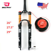 "BOLANY 26/27.5/29"" MTB Bike Suspension Fork 100mm Air Shock 1-1/8"" Threadless"