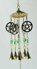 "Brass Pentacle 20"" Wind Chime"