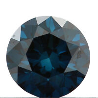 3.00 Cts CERTIFIED Round Enhanced Fancy Blue Black Yellow Green Natural Diamonds
