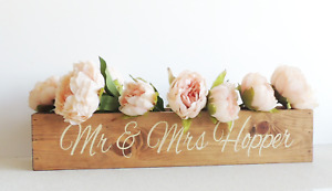 Rustic wedding planter, personalised wooden wedding, wedding table centerpieces