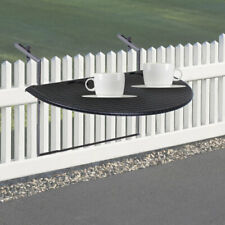 Hochwertiger Balkon Tisch Ablage Rattan Optik schwarz Belastbarkeit Big Light