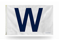 Chicago Cubs W WIN Authentic 3x5 Indoor/Outdoor Flag Banner MLB - FREE US SHIP