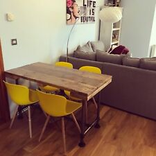 Dining Table 4 - 6 seater Industrial Modern Rustic Reclaimed Scaffolding Planks