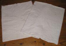 2 draps anciens brodés main, jours et monogramme SC  185x300