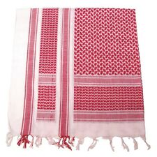 a Kefiah (Shemagh) bianco-rosso 115 x 110 cm (Produzione MFH)
