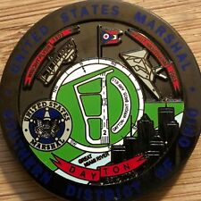 US Marshals Service Southern District of OHIO - Dayton Black CRM challenge coin