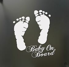Baby on Board feet sticker funny car window laptop Hangover Carlos mom mother